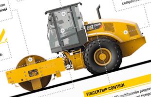 Infografía GENTRAC Compactadora CS 54 B CATERPILLAR