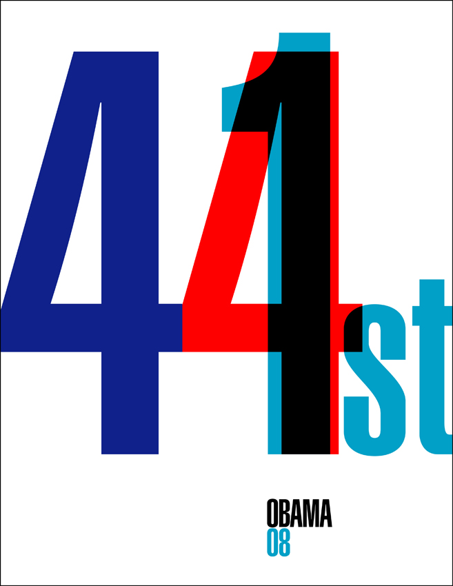 Ixotype - Blog - Design for Obama - 44th and 1th