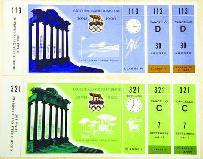 Ixotype - Blog - Entradas Juegos Olímpicos Roma 1960