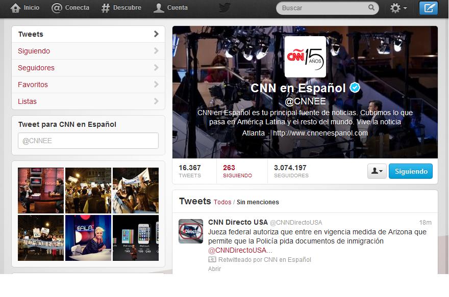 Ixotype - Blog - Perfil Twitter CNN