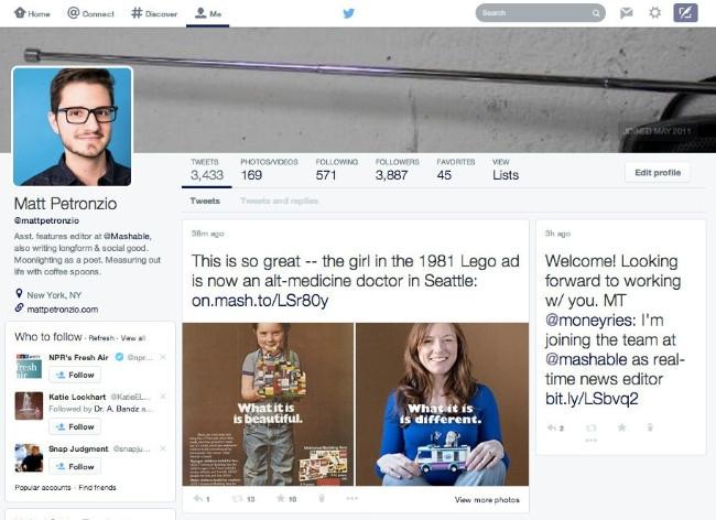 Twitter se disfraza de Facebook
