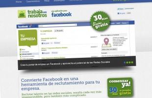 Ixotype - Portfolio - Infoempleo Trabaja con nosotros - Aplicación de Facebook - Diseño de la web de presentación