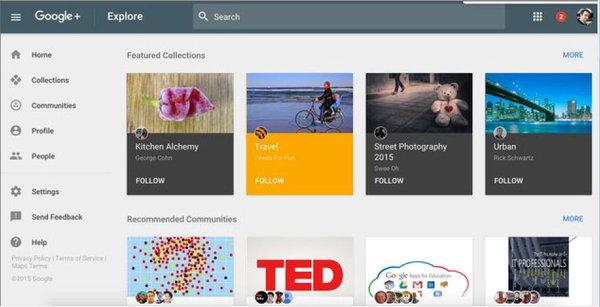 Prueba el nuevo diseño de Google+