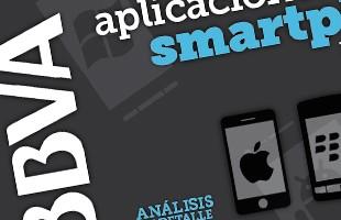 BBVA Infografía sobre aplicaciones para tablets y Smartphones (Ipad, Iphone, Android, Blackberry, SmartTV)